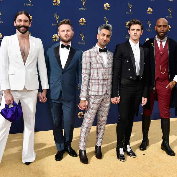 Jonathan Van Ness, Bobby Berk, Tan France, Antoni Porowski, Karamo Brown, 2018 Emmys, 2018 Emmy Awards